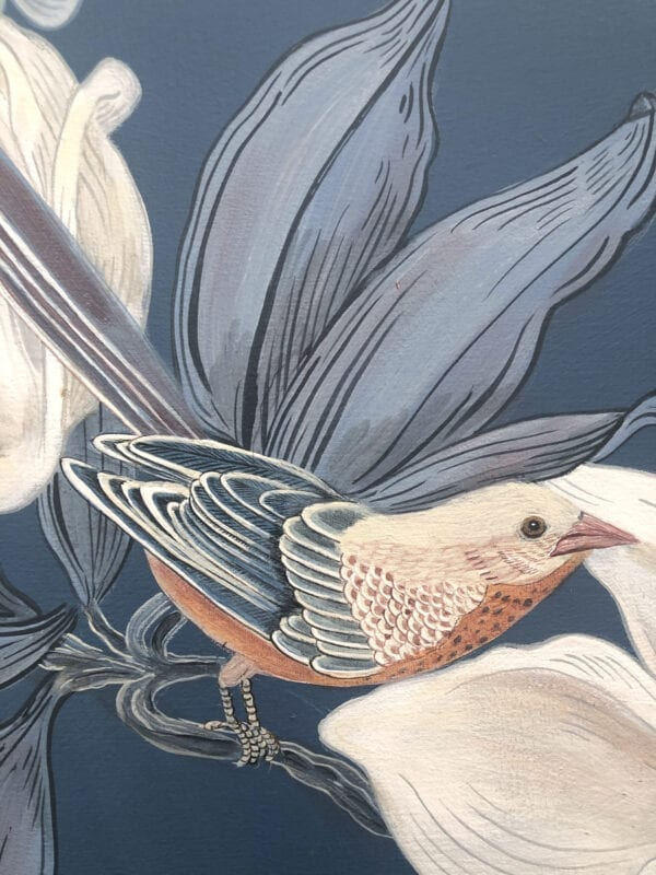 Chinoiserie-bird-painting-by-Allison-Cosmos