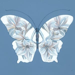 """""""Insect-Yourself""""-Chinoiserie-art-butterfly-painting-by-Allison-Cosmos"""