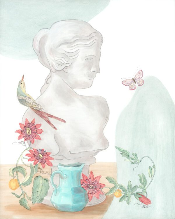 the-viner-things-in-life-statue-painting-by-Allison-Cosmos