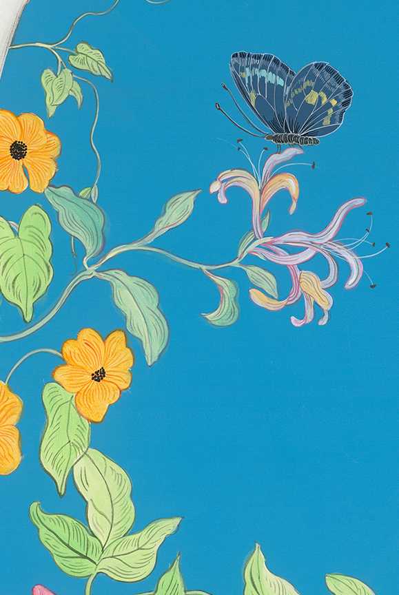 honeysuckle-vine-painting-with-butterfly-by-allison-cosmos