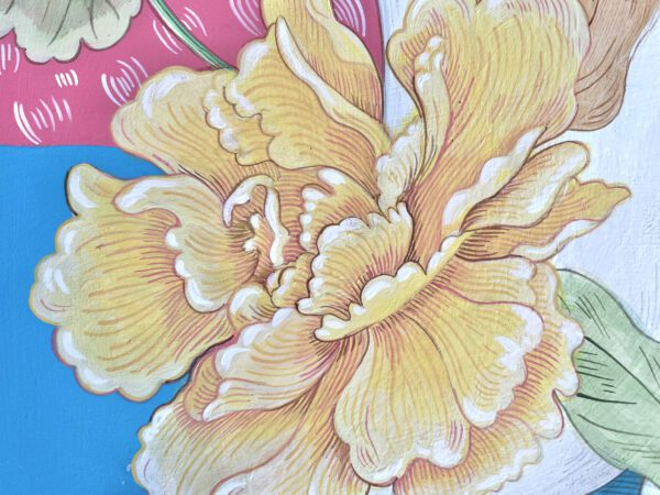 yellow-chinoiserie-peony-painting-by-Allison-Cosmos