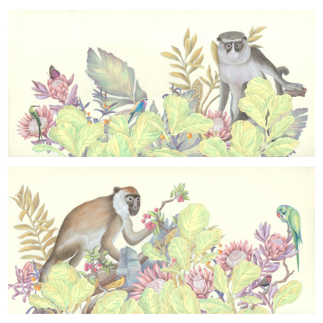 chinoiserie-monkey-painting-art-by-allison-cosmos
