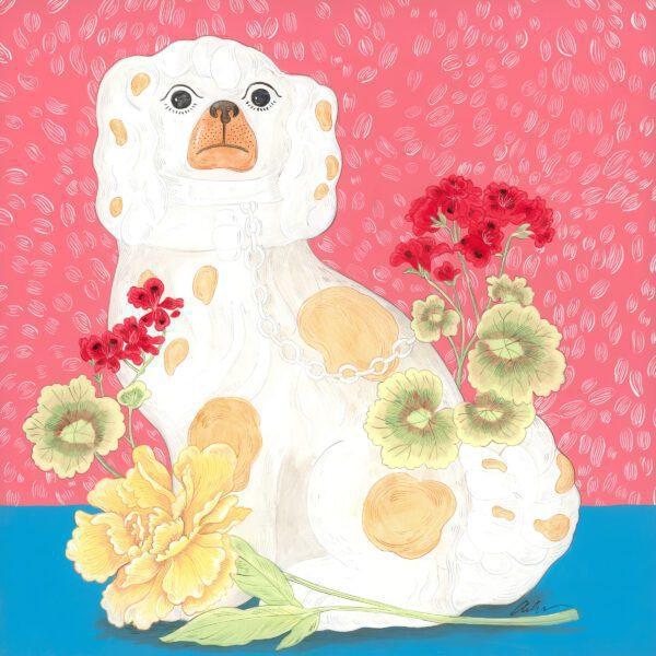 Smitten-pretty-staffordshire-dog-chinoiserie-by-Allison-Cosmos