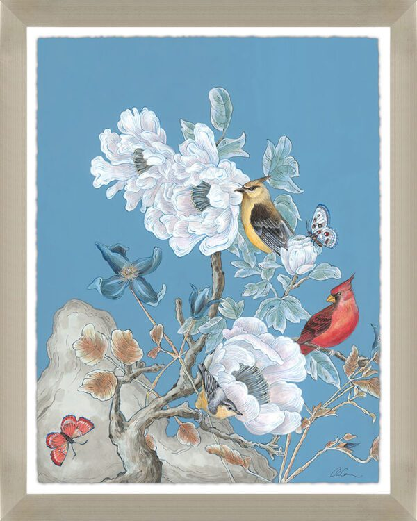 dream-come-blue-chinoiserie-panel-bird-art-by-Allison-Cosmos