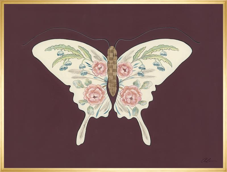social butterfly gold leaf gallery frame