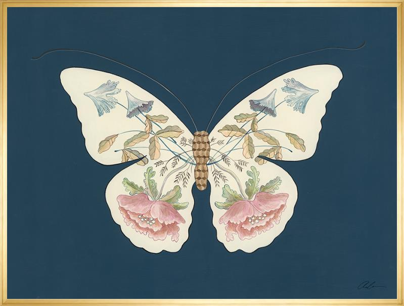 way of the butterfly gold float gallery frame