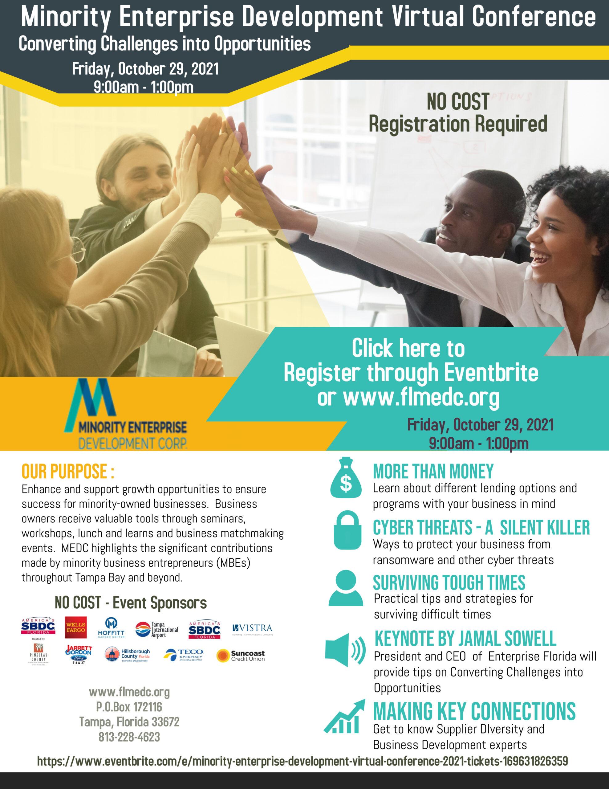Minority Enterprise Development Virtual Conference 2021-10-29
