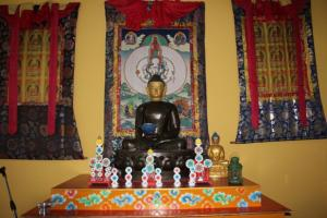 Buddha in meditation hall