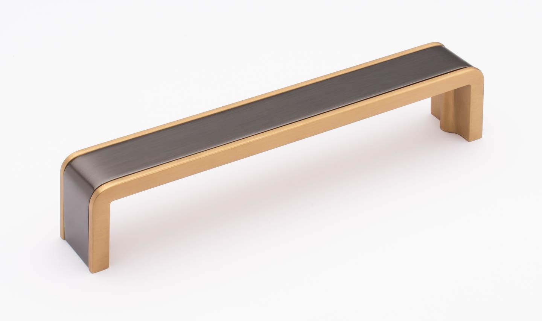 Fusion Gunmetal and Satin Brass P-2000-6-G-SB