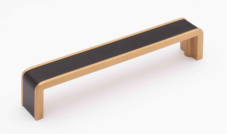 Fusion Matte Black and Satin Brass P-2000-6-MB-SB