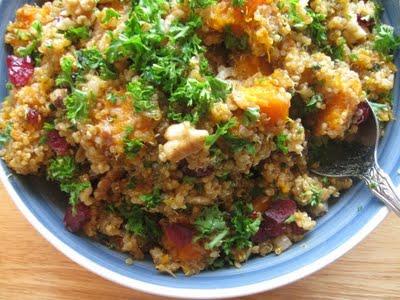 Buttercup squash quinoa salad