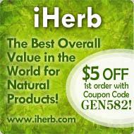 iHerb - $5 off 1st order