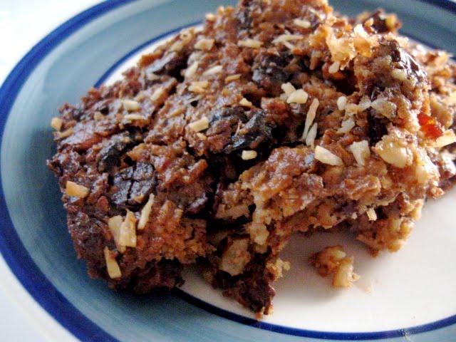 Cherry almond chocolate crisp bars