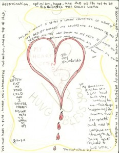 from the drawing series Thangka, Prayer, Blessing, Incantation, Medicine, Spells © Monet Clark