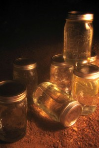 Canning Jars for Warmth by Lisa Pausmann