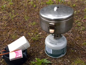 Author's camping stove