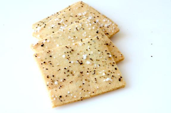Gluten free salt and pepper crackers