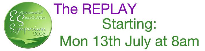ES Symposium replay starting Monday, July 13