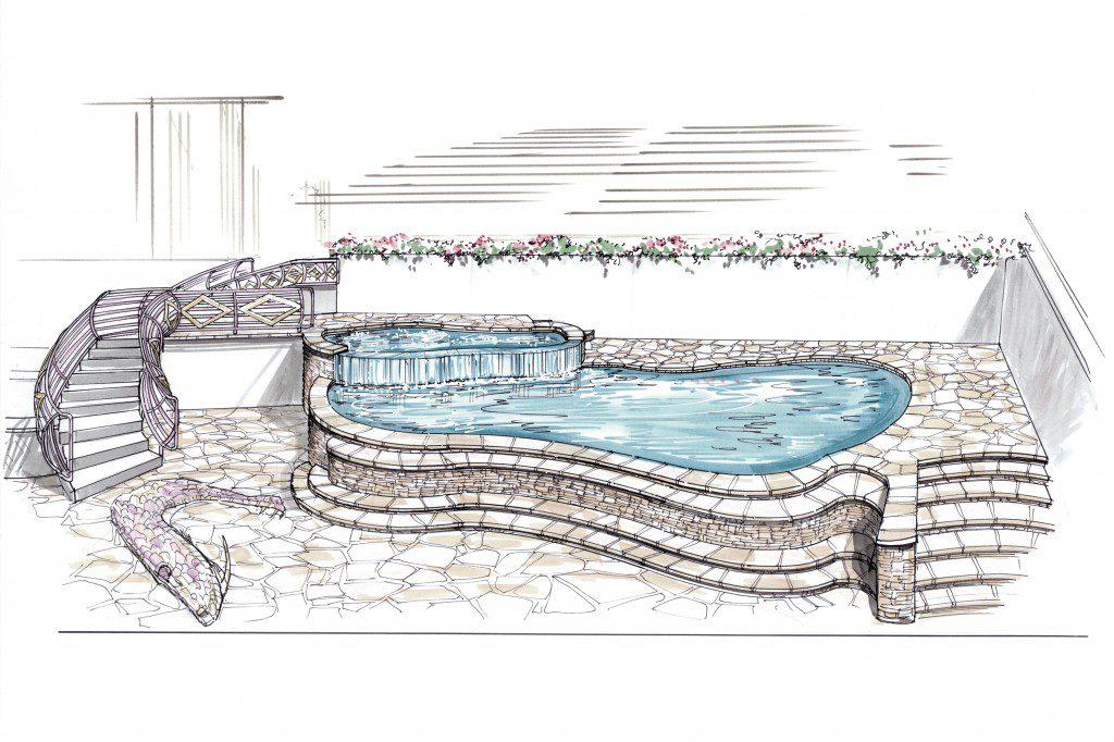 Chase Field Pool Remodel for Arizona Diamond Back Swimming Pool Mock Up