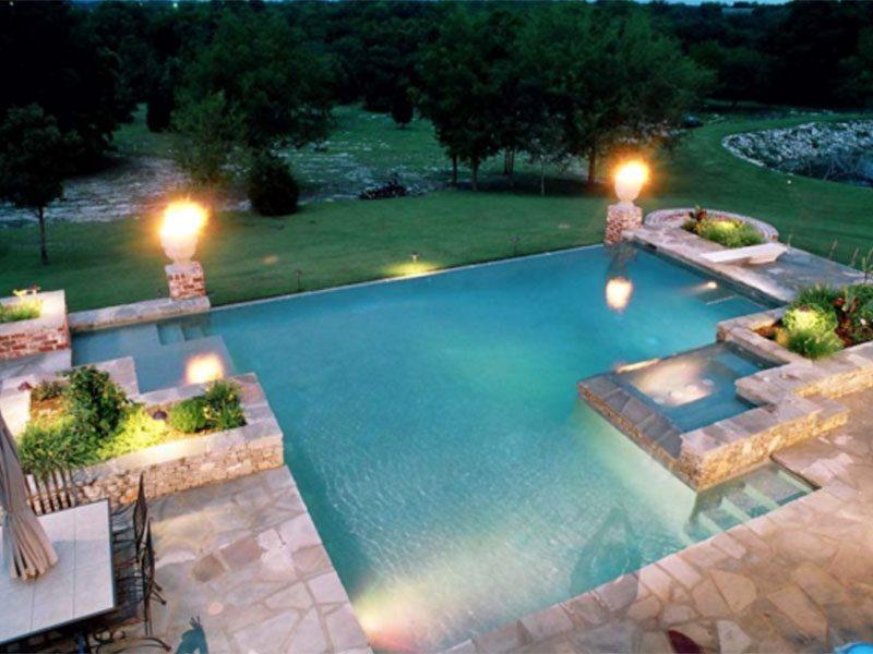 Custom Geometric Zero Edge Swimming Pool