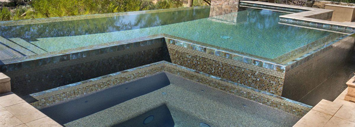 Custom Zero Edge Pool with geometric style
