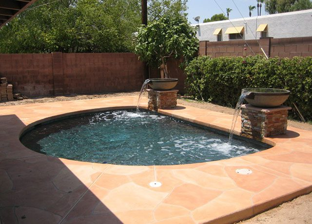 Custom Hot Tub Spa with Water Feature Bowls