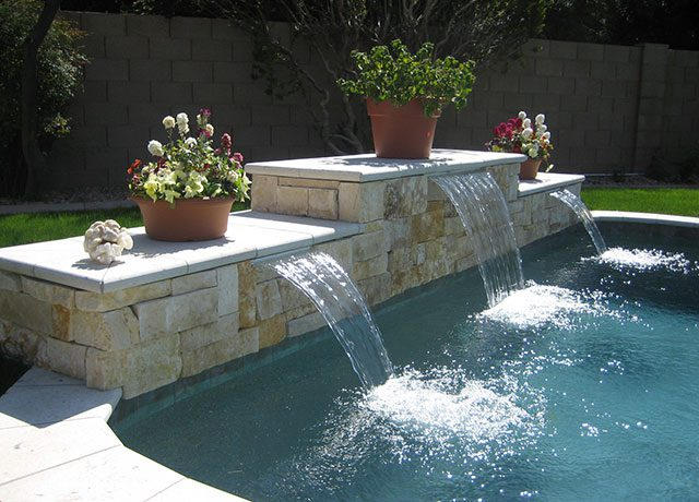 Custom Swimming Pool with Waterfall Feature