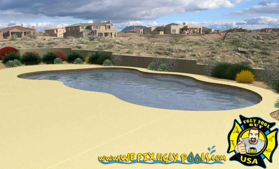 Mock Up of a swimming pool design