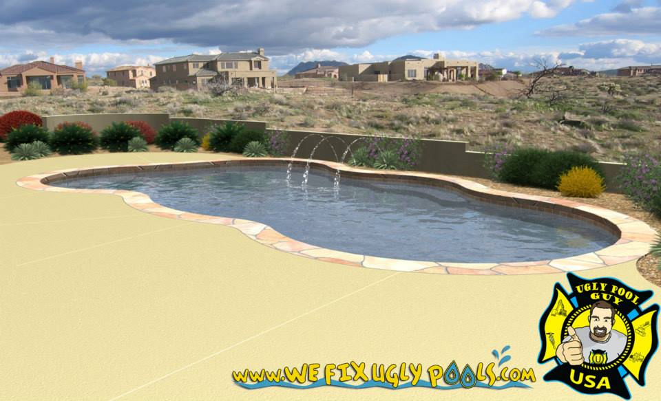 water features and stonework for swimming pools