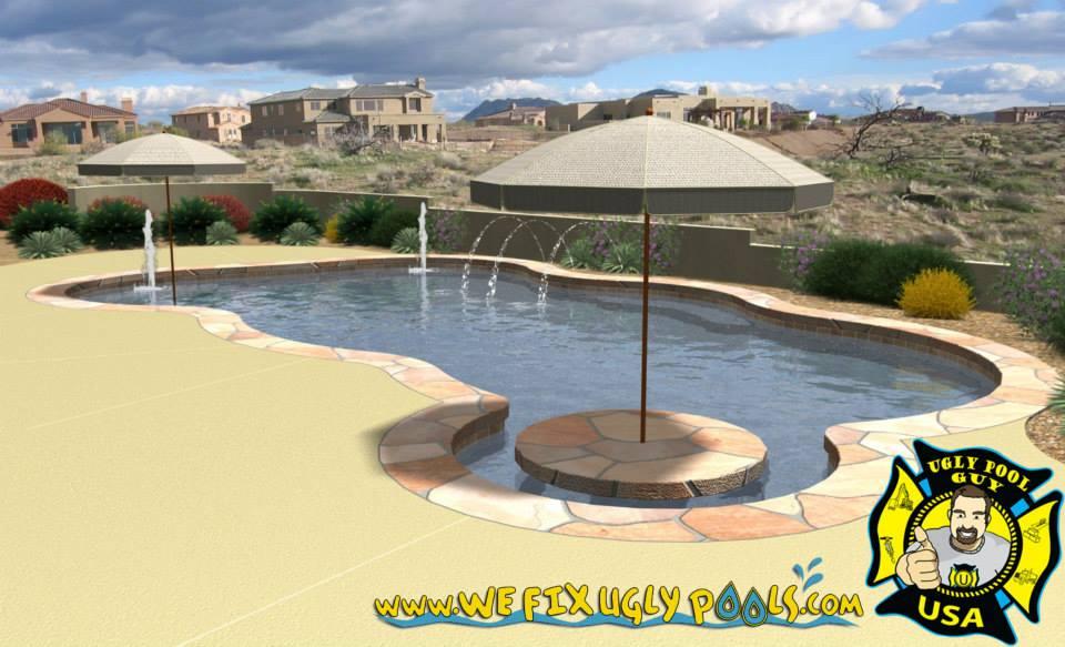 Seating Umbrellas for Swimming Pools
