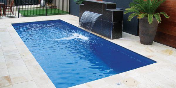 Rectangle Fiberglass swimming pool in Ma