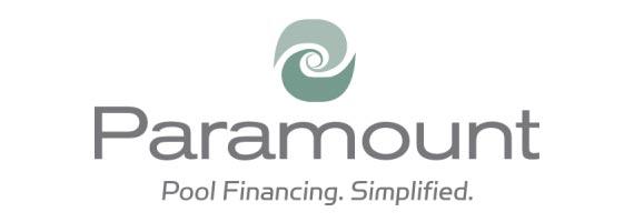 Swimming pool financing logo for Paramount