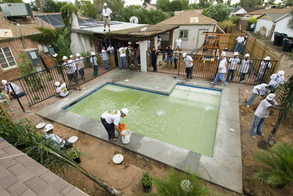 treating swimming pool water