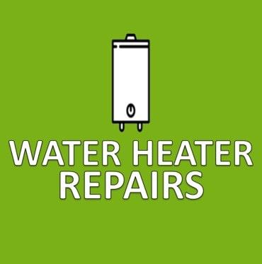 green water heater repairs button