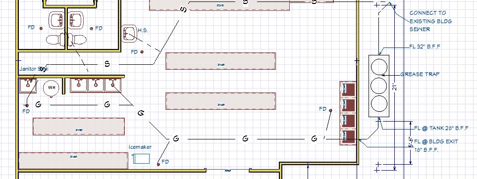 Commercial plumbing plan for commercial properties