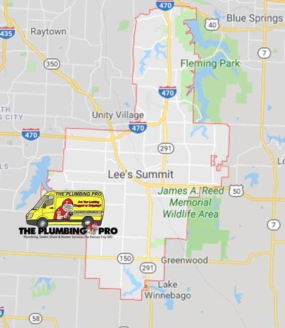 lees summit plumbing pro map