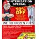 Winterize your plumbing