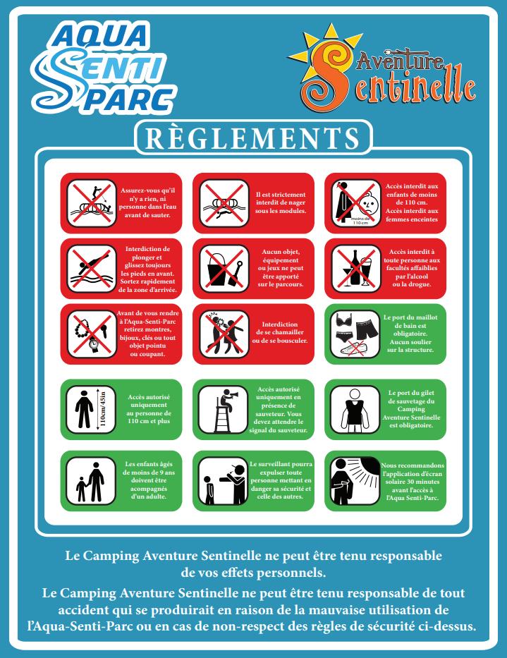 Règlement Aqua Senti-Parc image