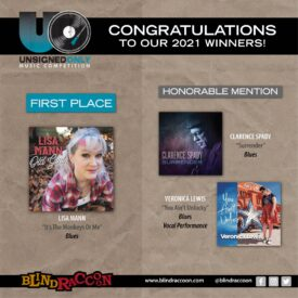 Blind Raccoon PR congratulates 2021 Unsigned Only song competition winners, including Lisa Mann
