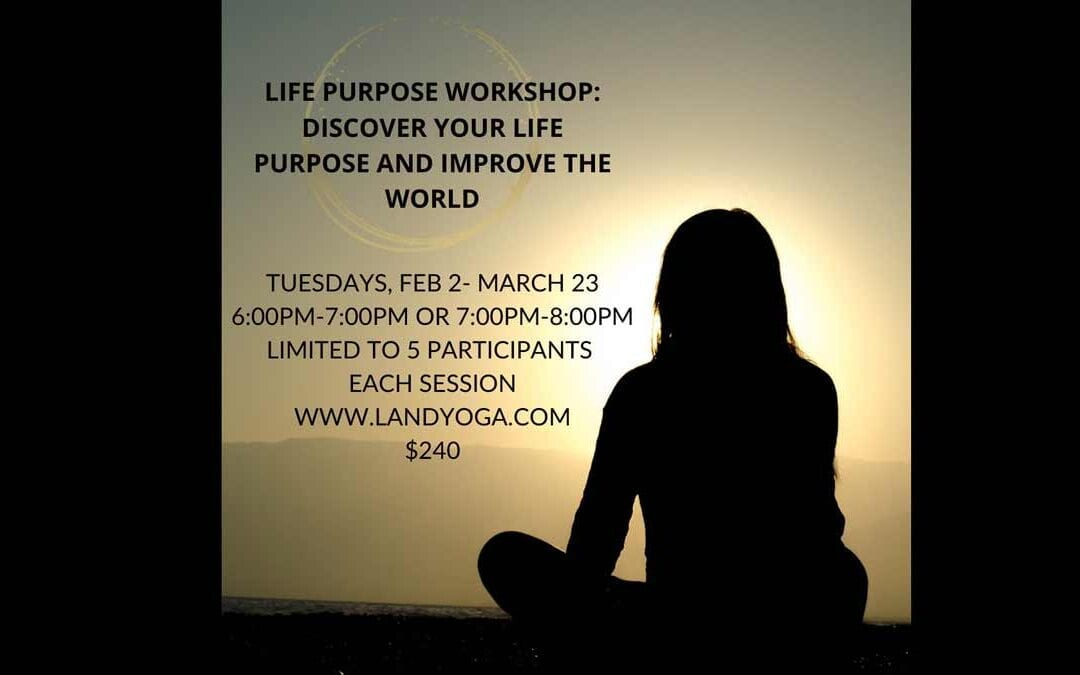 LIFE PURPOSE WORKSHOP: DISCOVER YOUR LIFE PURPOSE AND IMPROVE THE WORLD AROUND YOU