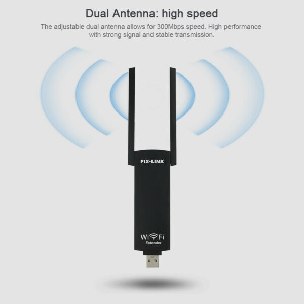 300mbps USB Wireless Wi-Fi Repeater Dual Antenna Signal Booster_9