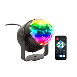 Remote Controlled RGB LED Light Voice Activated Rotating Crystal Light_0