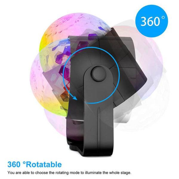Remote Controlled RGB LED Light Voice Activated Rotating Crystal Light_8