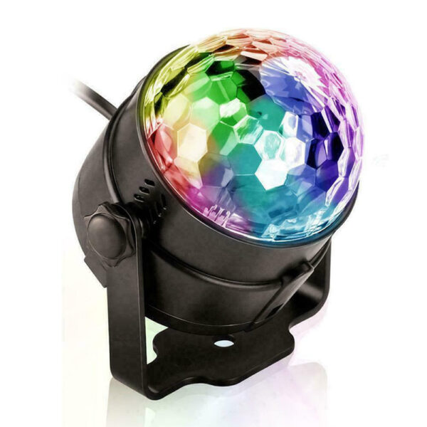 Remote Controlled RGB LED Light Voice Activated Rotating Crystal Light_9