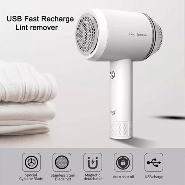 Rechargeable Lint Hair Remover Device Handheld Fabric Defuzzer_5