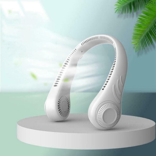 Portable Handsfree Bladeless Rechargeable Hanging Neck Fan_2