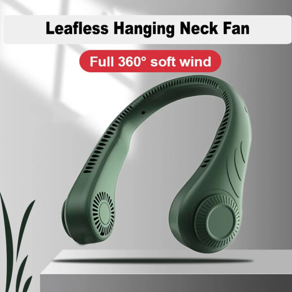 Portable Handsfree Bladeless Rechargeable Hanging Neck Fan_5