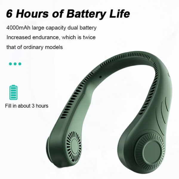 Portable Handsfree Bladeless Rechargeable Hanging Neck Fan_6