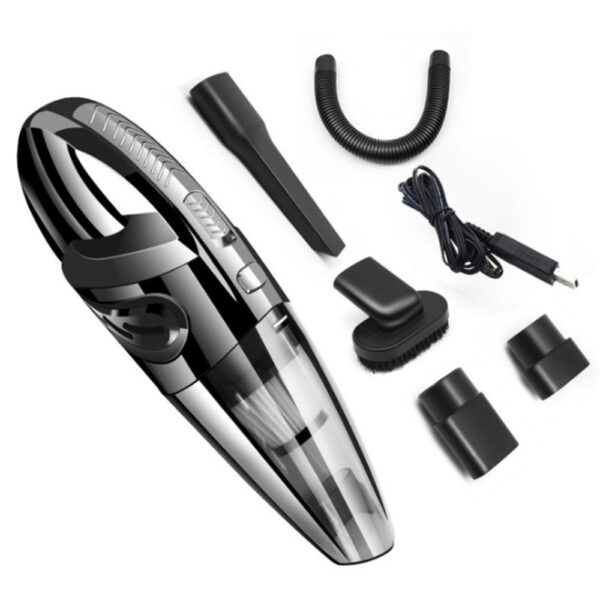 USB Rechargeable Cordless Car Wet and Dry Vacuum Cleaner_0