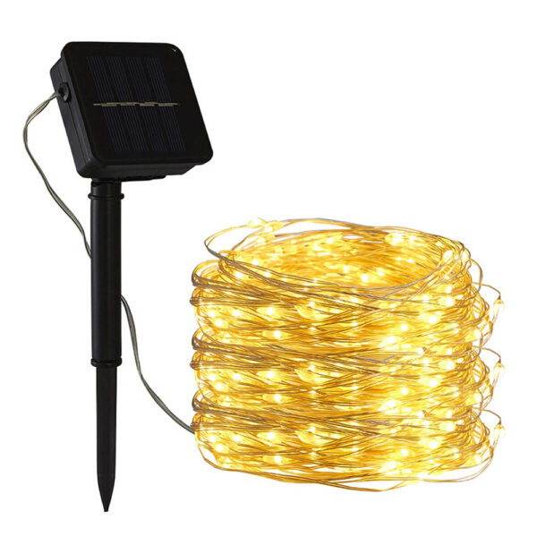 200LED Solar Powered String Fairy Light for Outdoor Decoration_0